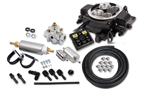 550-868K - Holley Sniper EFI Quadrajet™ Master Kit - Black Ceramic Image