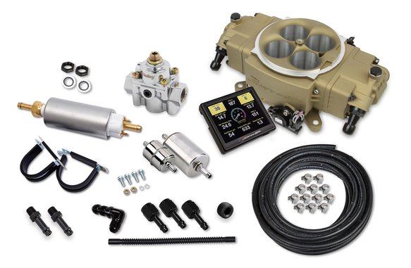 550-872K - Holley Sniper Stealth 4150 Master Kit - Gold Finish Image