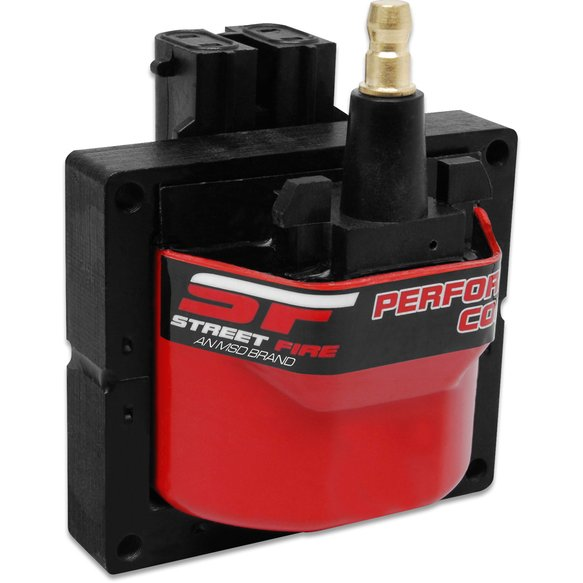 5526 - Street Fire Igntiion Coil Dual Connector, Red, GM HEI distributors Image