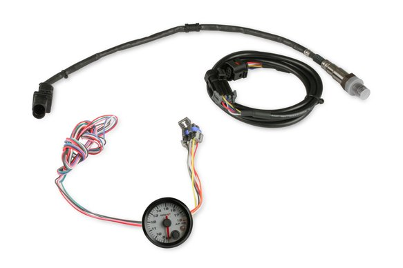 553-168W - Holley EFI Analog Style Standalone Air/Fuel Wideband Gauge Kit - White Image