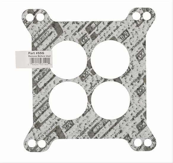 55G - Mr. Gasket Carburetor Base Gasket - 4-Barrel - Square Flange - 4-Hole - Bulk Packaged with UPC Label Image