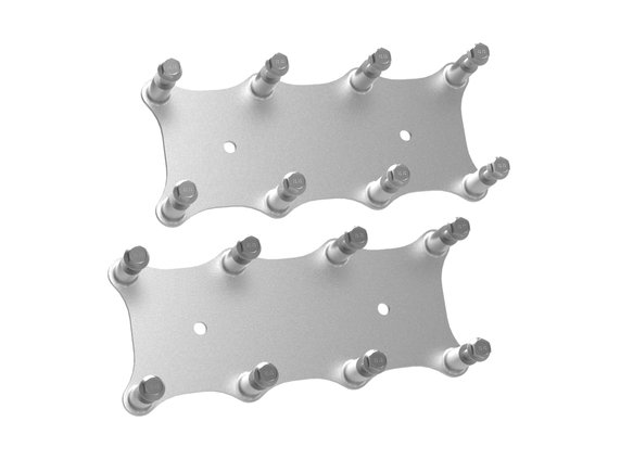 561-124 - Holley EFI Igntion Coil Remote Relocation Bracket, Silver Finish, Pair Image