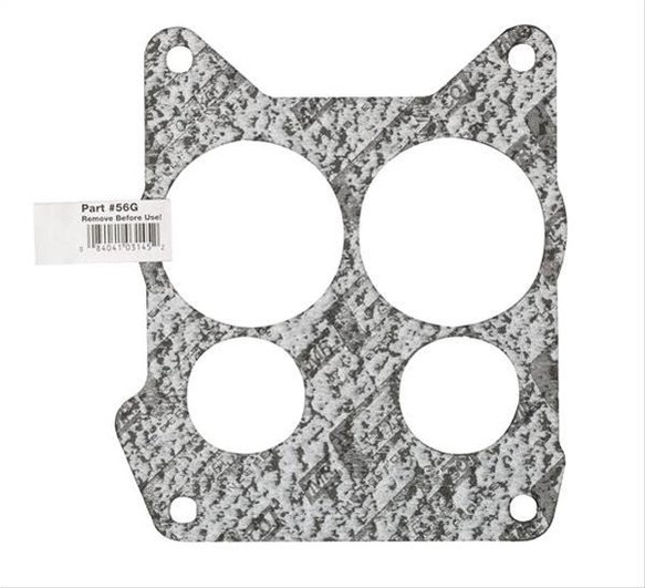 56G - Carburetor Base Gasket - Edelbrock - 4 BBL - Quadra-Jet - Bulk Packaged w/ UPC Label Image