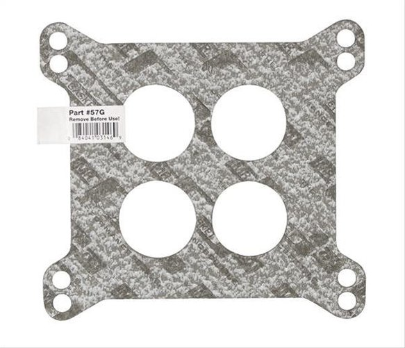 57G - Mr. Gasket Performance Carburetor Base Gasket - 4-Hole - Bulk Packaged with UPC Label Image