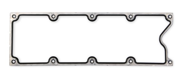 61020G - Mr. Gasket Valley Cover Gasket - Molded Rubber with Aluminum Carrier Image
