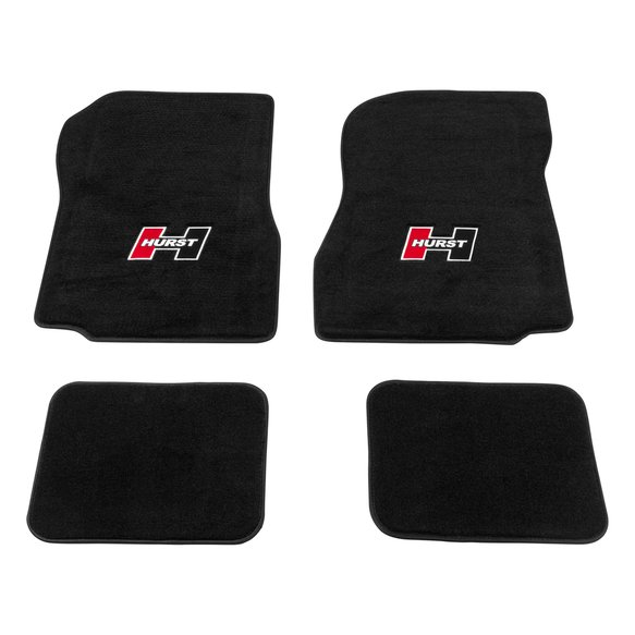 6370002 - Hurst Red Logo (Front & Rear) Floor Mat Kit for 68-72 GM A-Body Image