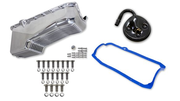 6504FWND - Weiand Aluminum Oil Pan Kit Image