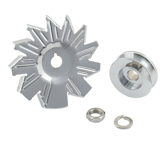 6808 - CHROME ALTERNATOR FAN & PULLEY Image