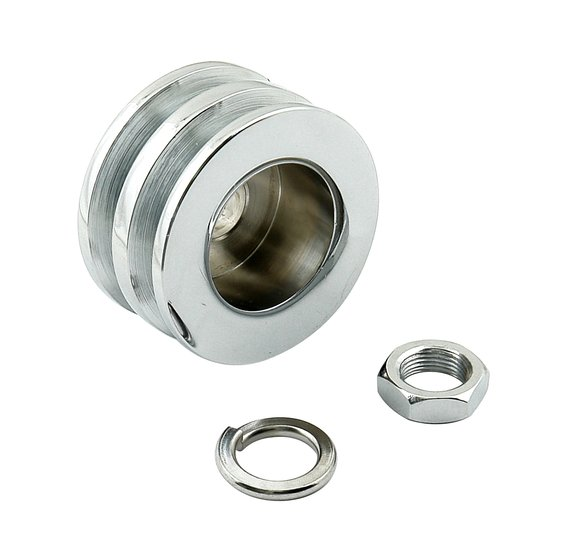 6809 - Alternator Pulley - Chrome - Double Groove Image