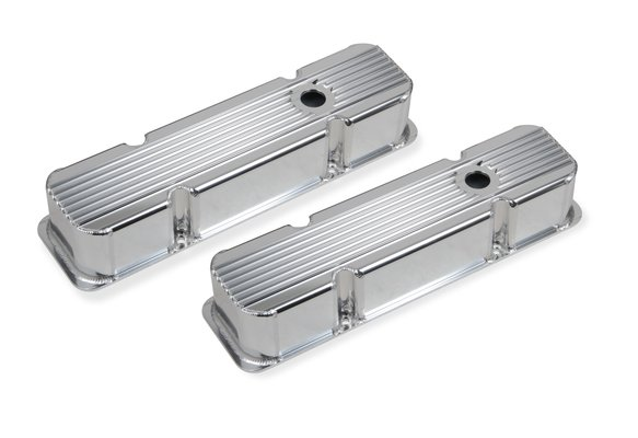 6814G - Mr. Gasket Finned Fabricated Aluminum Valve Covers Image