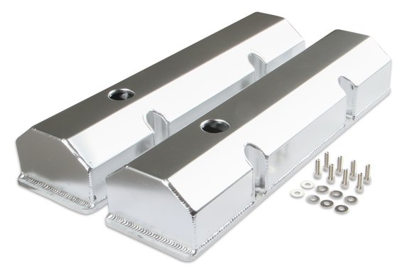 6817G - Mr. Gasket Fabricated Aluminum Valve Cover - Silver Finish Image