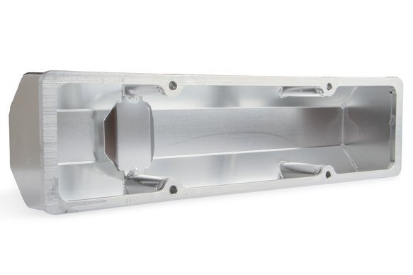 6817G - Mr. Gasket Fabricated Aluminum Valve Cover - Silver Finish - additional Image