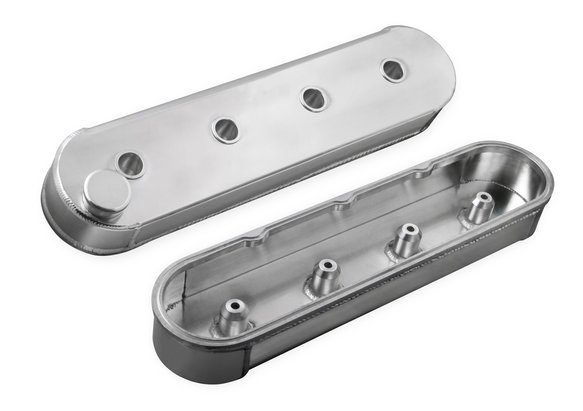 6825G - Mr. Gasket Fabricated Aluminum Valve Covers without Coil Stands - Silver Image