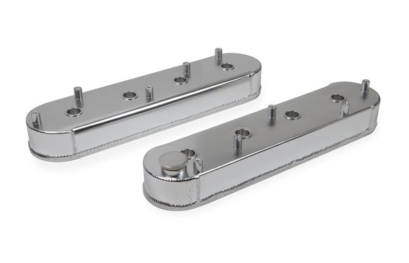 6826G - Fabricated Aluminum Valve Cover - GM LS Engines - Silver Finish Image