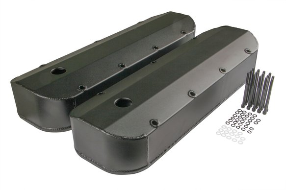 6831BG - Mr. Gasket Fabricated Aluminum Valve Cover - Black Finish Image