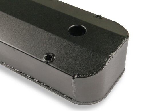 6831BG - Mr. Gasket Fabricated Aluminum Valve Cover - Black Finish - additional Image