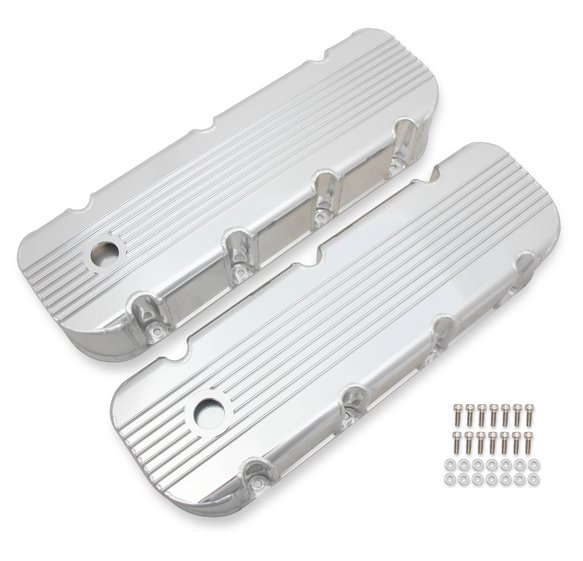 6833G - Mr. Gasket Finned Fabricated Aluminum Valve Covers Image