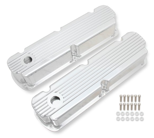 6841G - Mr. Gasket Finned Fabricated Aluminum Valve Covers Image