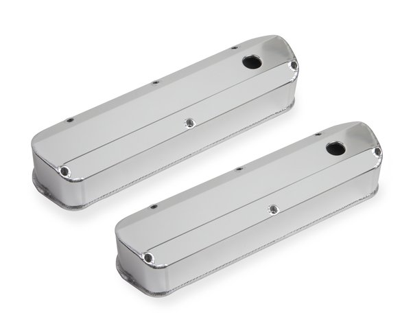 6843G - Fabricated Aluminum Valve Cover - Ford Small Block - Silver Finish Image