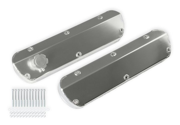 6845G - Mr. Gasket Fabricated Aluminum Valve Cover - Tapered Edge - Silver Image