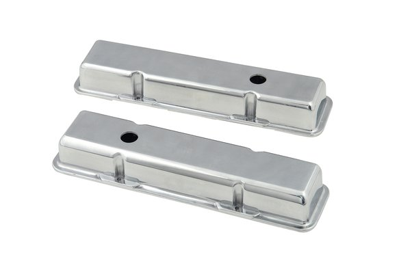 6850 - Aluminum short-style valve covers for 1958-86 Chevy small block 283-400 engines. Image