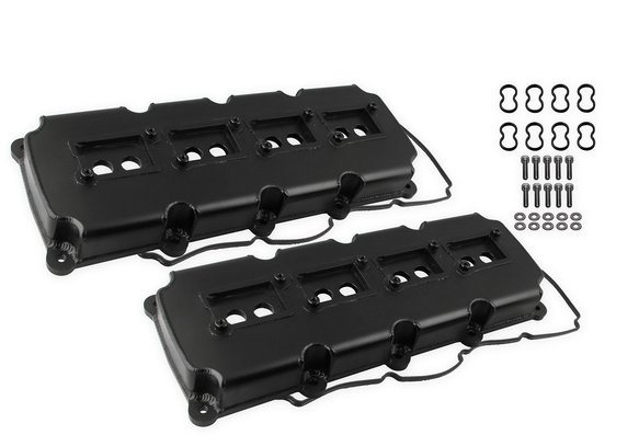 68501BG - Mr. Gasket Fabricated Valve Covers - Black Finish - default Image
