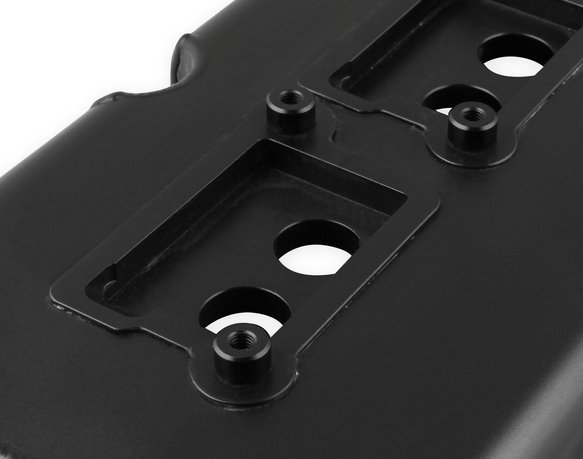 68501BG - Mr. Gasket Fabricated Valve Covers - Black Finish - additional Image