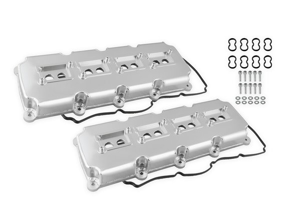 68501G - Mr. Gasket Fabricated Valve Covers - Silver Finish Image
