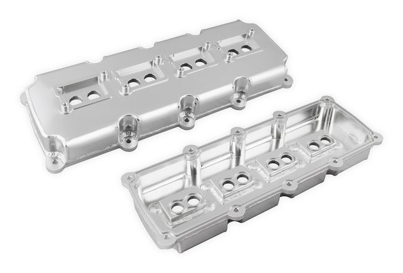 Mr  Gasket Fabricated Valve Covers - Silver Finish