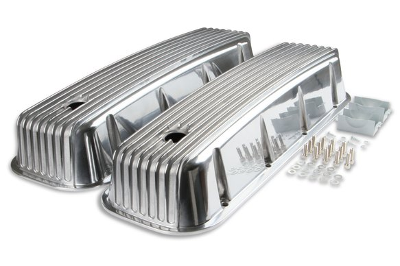 6859G - Mr. Gasket Cast Aluminum Tall Valve Covers - Polished Image