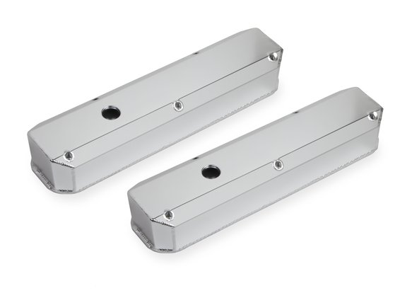 6860G - Fabricated Aluminum Valve Cover - Chrysler Small Block - Silver Finish Image