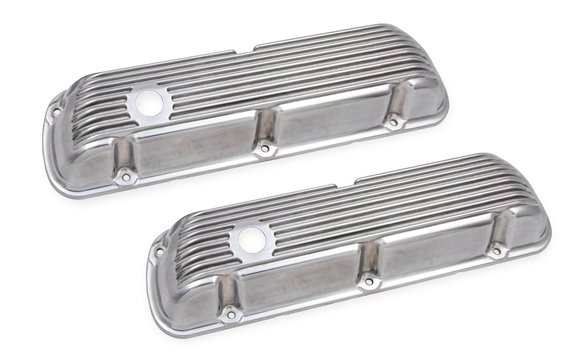 6861G - Mr. Gasket Cast Aluminum Valve Covers Pair - Polished Image