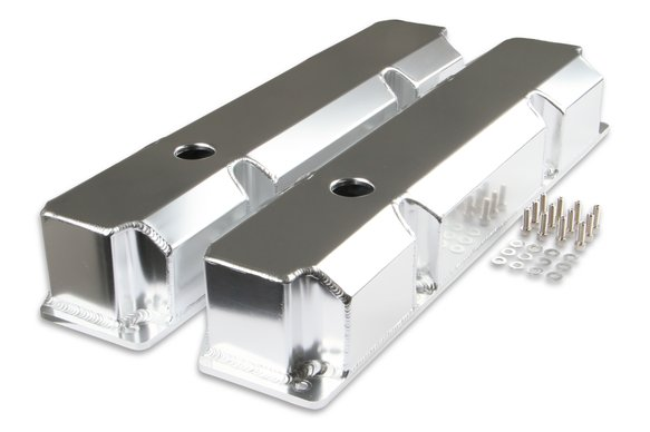 6862G - Mr. Gasket Fabricated Aluminum Valve Cover - Silver Finish Image
