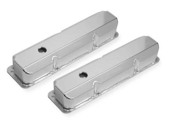 6872G - Mr. Gasket Fabricated Aluminum Valve Cover - Ford FE - Silver Finish Image