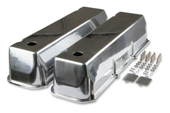 6873G - Mr. Gasket Cast Aluminum Tall Valve Covers - Polished Image