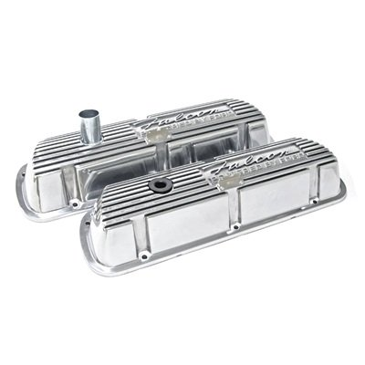 6A582-FP - Scott Drake Falcon Polished Aluminum Valve Covers (Pair) Image