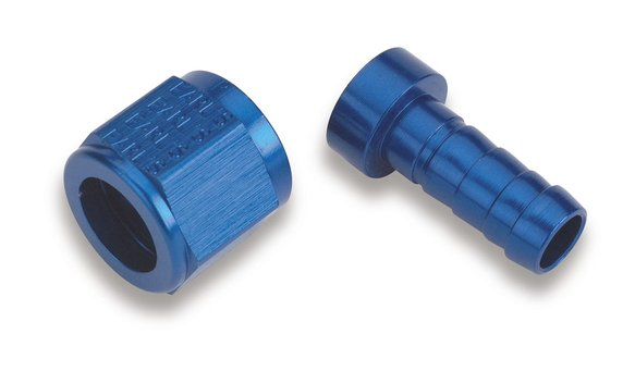700110ERL - Earls Auto-Crimp Hose End - Straight - Size -10 - Blue Image