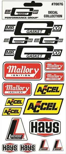 7007G - Mr. Gasket Decal Assortment - with Hang Tab Image