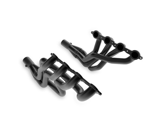 70101506-3HKR - Hooker BlackHeart LS-Swap Full-Length Header - Black Ceramic Coated Image