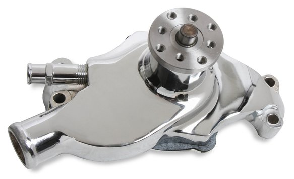 7011 - Water Pump - Short Style - Small Block Chevy - Iron - Chrome Plated Image