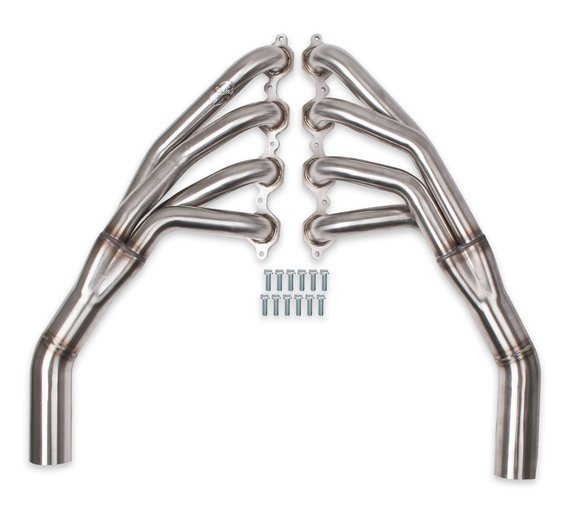70201319-RHKR - Hooker BlackHeart Mid-Length Headers - Brushed Image