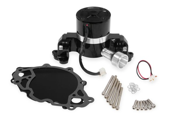 7024BG - Mr. Gasket Electric Water Pump with Block Off Plate - 35 GPM - Black Image