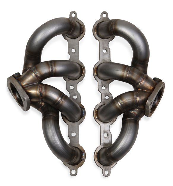 70301303-RHKR - 2005-2013 Corvette C6 Hooker BlackHeart Shorty Headers w/Merge Collector - Stainless Image
