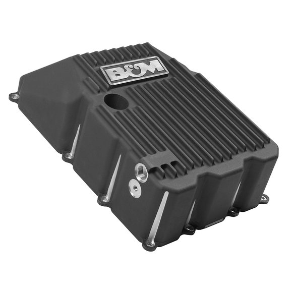 70394 - B&M Hi-Tek Deep Trans Pan for 2009-18 Ford Trucks/SUVs with 6R80 Transmissions - additional Image