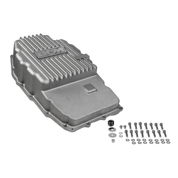 70396 - B&M Hi-Tek Deep Trans Pan for 2015-19 GM Truck/SUV 8L90E 8-Speed Transmission Image