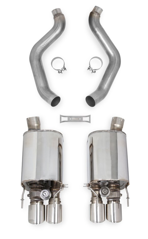 70401324-RHKR - Hooker BlackHeart Axle-Back Exhaust with Dual Mode (NPP) Mufflers Image