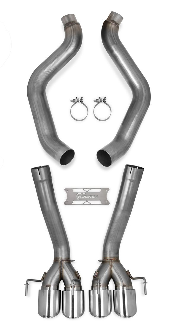 70401314-RHKR - Hooker BlackHeart Axle-Back Exhaust System Image