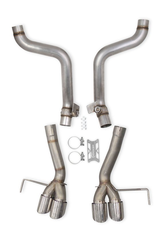70401320-RHKR - Hooker BlackHeart Axle-Back Exhaust Kit (without Mufflers) Image