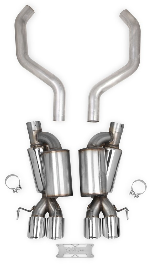 70401322-RHKR - Hooker BlackHeart Axle-Back Exhaust W/Mufflers and Resonators Image