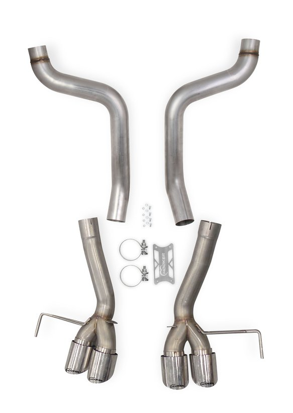 70401327-RHKR - Hooker BlackHeart Axle-Back Exhaust without Mufflers Image